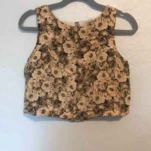 Broadway and Broome Floral Crop Top